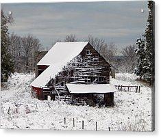 Michigan Barn Acrylic Print by Patrick Murphy