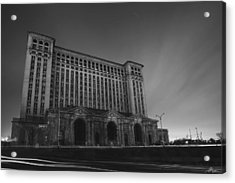 Michigan Central Station At Midnight Acrylic Print by Gordon Dean II