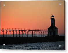Michigan City East Pier Lighthouse Acrylic Print