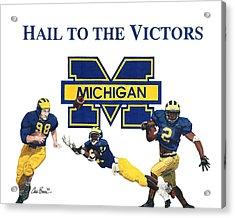 Michigan Heismans Acrylic Print