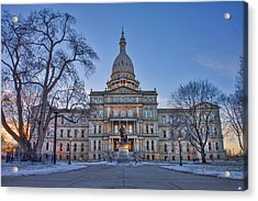 Acrylic Print featuring the photograph Michigan State Capitol by Nicholas Grunas