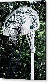 Michigan State Practice Hoop Acrylic Print