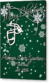 Michigan State Spartans Christmas Card Acrylic Print