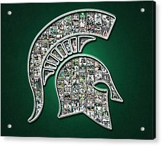 Michigan State Spartans Football Acrylic Print