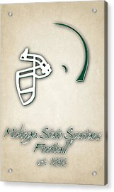 Michigan State Spartans Helmet 2 Acrylic Print