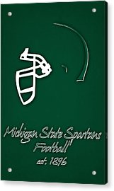 Michigan State Spartans Helmet Acrylic Print