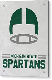 Michigan State Spartans Vintage Art Acrylic Print