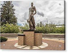 Michigan State - The Spartan Statue Acrylic Print by John McGraw