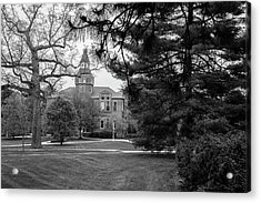 Michigan State University Campus Black And White  Acrylic Print