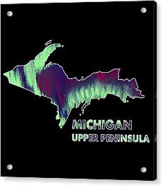 Michigan - Up - Northern Lights - Aurora Hunters Acrylic Print by Anastasiya Malakhova