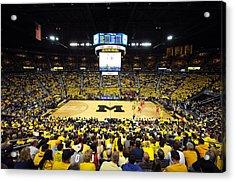Michigan Wolverines Crisler Center Acrylic Print by Replay Photos