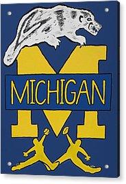 Michigan Wolverines Acrylic Print