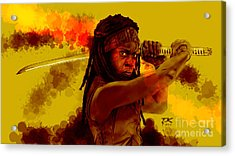 Michonne Acrylic Print by David Kraig