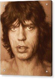 Mick Acrylic Print by Dan Sproul