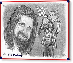 Mick Foley Acrylic Print by Chris  DelVecchio