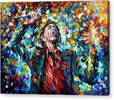 Mick Jagger Acrylic Print by Leonid Afremov