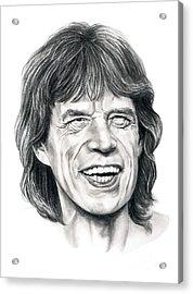 Mick Jagger Acrylic Print by Murphy Elliott