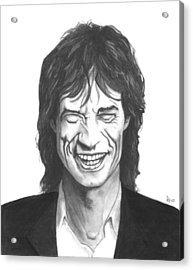 Mick Jagger Acrylic Print by Russell Griffenberg