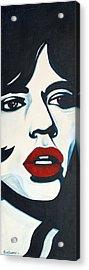 Mick Jagger Acrylic Print by Suzette Castro