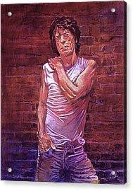 Mick Jagger The Wall Acrylic Print