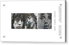 Mick Jagger Triptych Acrylic Print