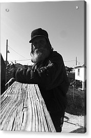 Mick Lives Across The Street Not In The Streets Acrylic Print by WaLdEmAr BoRrErO