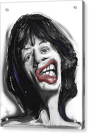 Mick Acrylic Print by Russell Pierce