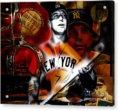 Mickey Mantle Collection Acrylic Print by Marvin Blaine