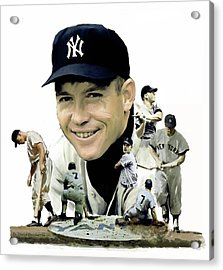 Mickey Mantle Legacy, II  Acrylic Print by Iconic Images Art Gallery David Pucciarelli