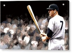Mickey Mantle Signed Prints Available At Laartwork.com Coupon Code Kodak Acrylic Print by Leon Jimenez