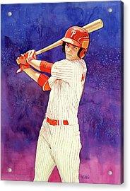 Mickey Moniak Number 1 Pick Acrylic Print by Michael Pattison
