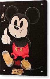 Mickey On Tap Acrylic Print