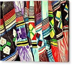 Micosukee Skirts Acrylic Print by Sam Vega