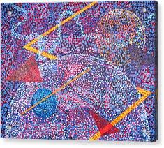 Microcosm Xv Acrylic Print by Rollin Kocsis