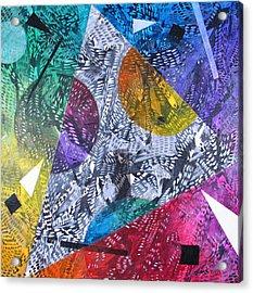 Microcosm Xx Acrylic Print by Rollin Kocsis