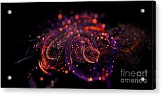 Microscopic Iv - Glass Jewels Acrylic Print by Sandra Hoefer