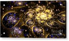 Microskopic Vii - Galaxy Acrylic Print by Sandra Hoefer