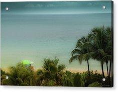 Mid-beach Miami-1 Acrylic Print