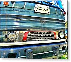 Mid Century Gm Greyhound Bus Front Grill  Acrylic Print by Scott D Van Osdol