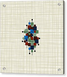 Mid Century Modern Squares Bkgrnd Acrylic Print