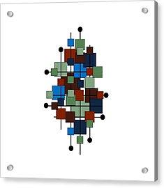 Mid Century Modern Squares Acrylic Print