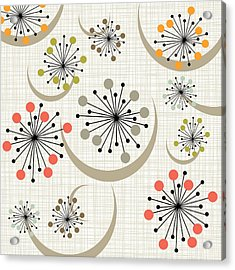 Mid Century Modern Starbursts Bkgrnd Acrylic Print