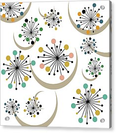 Mid Century Modern Starbursts Acrylic Print