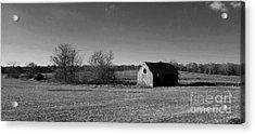 Mid Century Weathered Barn - Black And White Acrylic Print by Scott D Van Osdol
