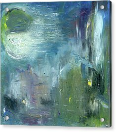 Acrylic Print featuring the painting Mid-day Reflection by Michal Mitak Mahgerefteh