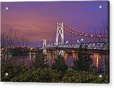 Mid Hudson Bridge At Twilight Acrylic Print