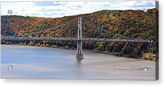 Mid Hudson Bridge In Autumn Acrylic Print