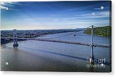 Mid-hudson Bridge In Spring Acrylic Print