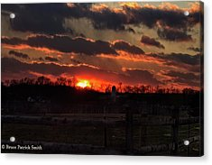 Acrylic Print featuring the photograph Mid Ohio Sunset by Bruce Patrick Smith