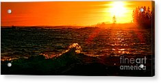 Midcoast Maine Sunset Acrylic Print by Olivier Le Queinec